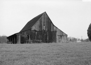 Old Tobacco Barn in Marbury, MD;Library of Congress American Memories Digital Photo Collection.